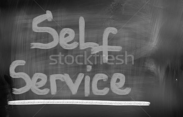 Self Service Concept Stock photo © KrasimiraNevenova