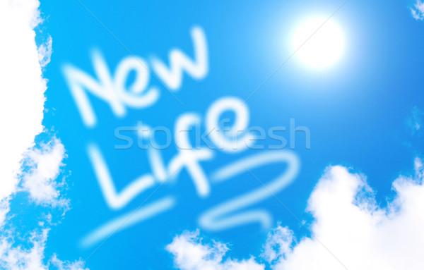 Yeni hayat mutlu güzel mutluluk yeni kavram Stok fotoğraf © KrasimiraNevenova