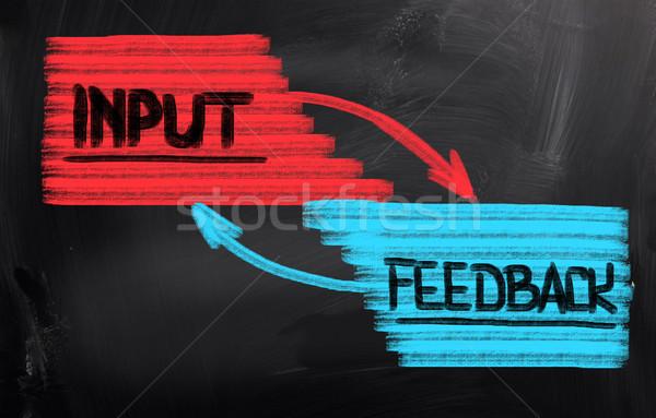 Feedback negocios educación presentación escribir plan Foto stock © KrasimiraNevenova