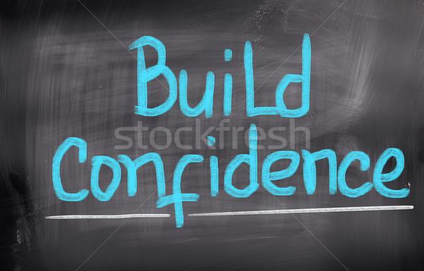 Construire confiance aider gestion confiance coach Photo stock © KrasimiraNevenova