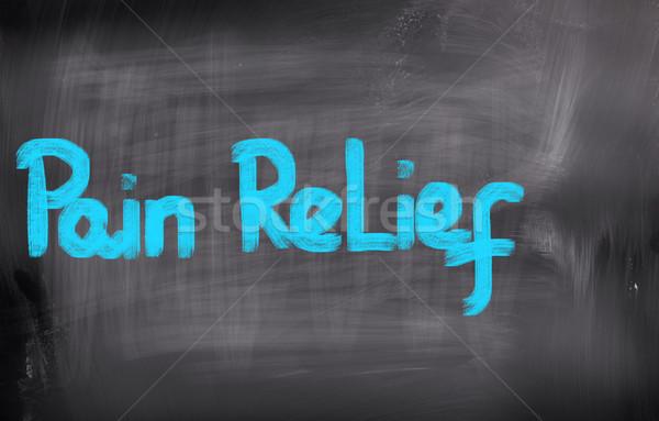 Fájdalom megkönnyebbülés orvosi gyógyszer hát ötlet Stock fotó © KrasimiraNevenova
