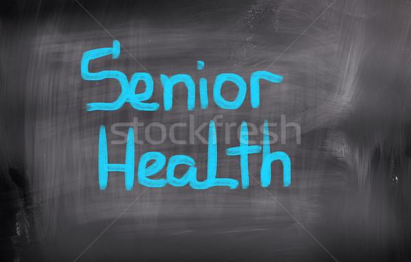 Stock fotó: Idős · egészség · idős · gondolkodik · törődés · emberi