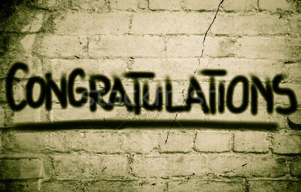 Gratulacje ukończeniu kolegium przypadku dyplom świętować Zdjęcia stock © KrasimiraNevenova