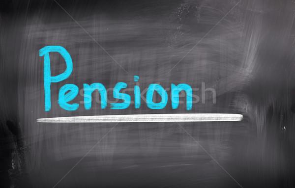 Pensão dinheiro abstrato projeto financiar idoso Foto stock © KrasimiraNevenova