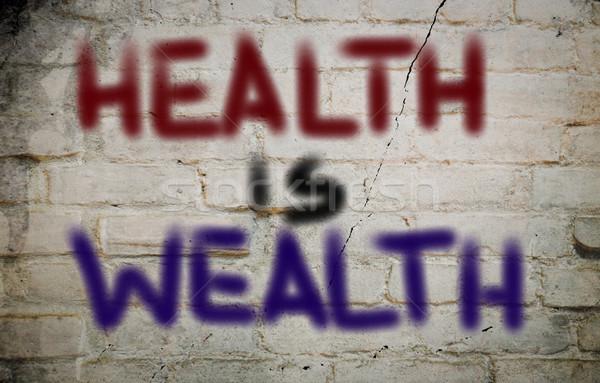 здоровья богатство бизнеса деньги медицина Финансы Сток-фото © KrasimiraNevenova