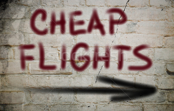 Photo stock: Pas · cher · vols · livre · fond · Voyage · avion