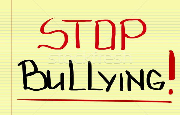 Stop megfélemlítés szomorú erőszak ötlet társasági Stock fotó © KrasimiraNevenova
