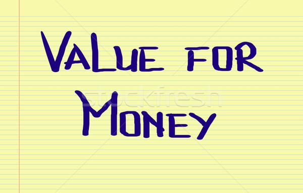 Value Concept Stock photo © KrasimiraNevenova