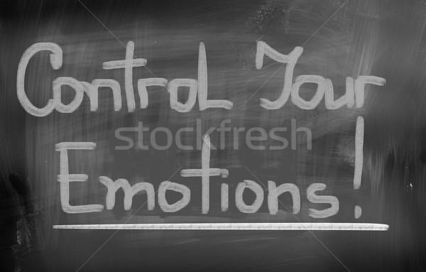 Control Your Emotions Concept Stock photo © KrasimiraNevenova
