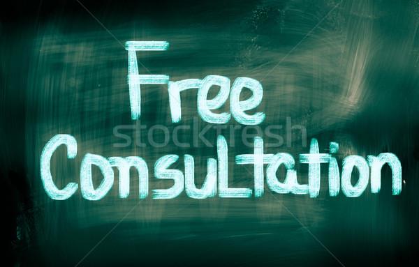 Free Consultation Concept Stock photo © KrasimiraNevenova