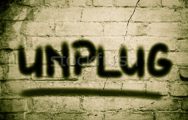 Unplug Concept Stock photo © KrasimiraNevenova