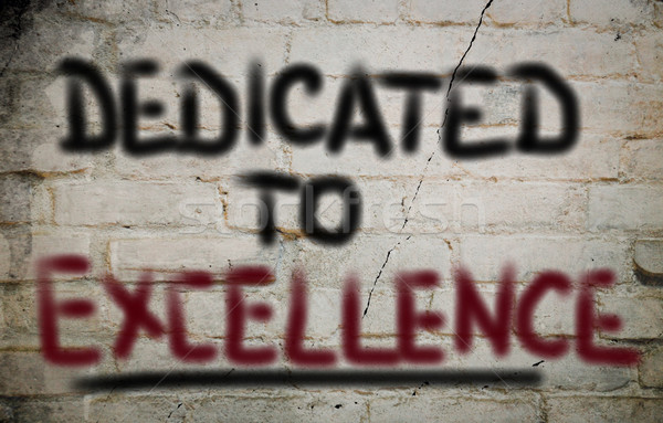 Dedicated To Excellence Concept Stock photo © KrasimiraNevenova