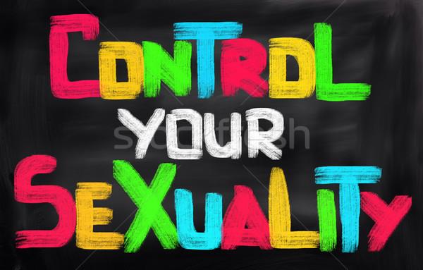 Controle seksualiteit seks vrouwen medische onderwijs Stockfoto © KrasimiraNevenova