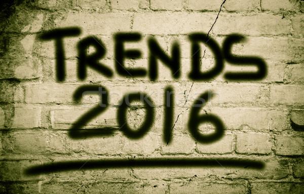 Trends 2016 business internet technologie corporate Stockfoto © KrasimiraNevenova