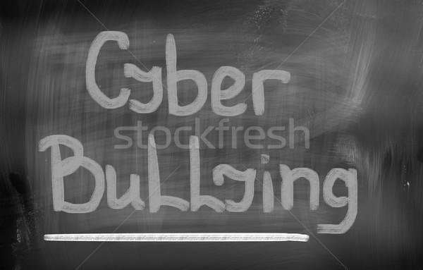 Megfélemlítés internet oktatás média törődés erőszak Stock fotó © KrasimiraNevenova