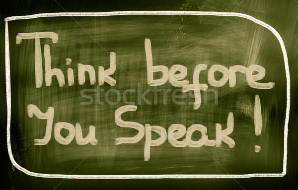 Pensar hablar fondo revista justo concepto Foto stock © KrasimiraNevenova