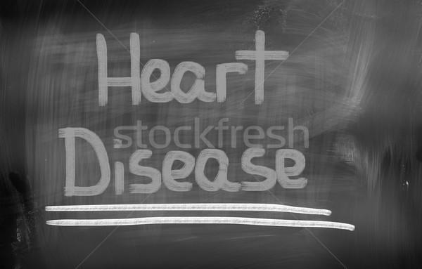 Szívbetegség szív szépség mell fájdalom mellkas Stock fotó © KrasimiraNevenova