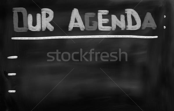 Agenda riunione target gestione piano progetto Foto d'archivio © KrasimiraNevenova