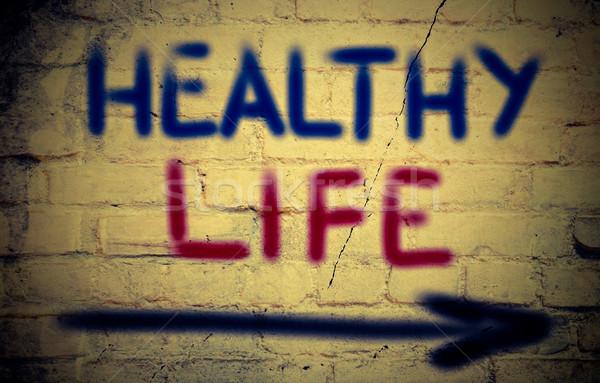 Egészséges élet sport test fitnessz egészség energia Stock fotó © KrasimiraNevenova