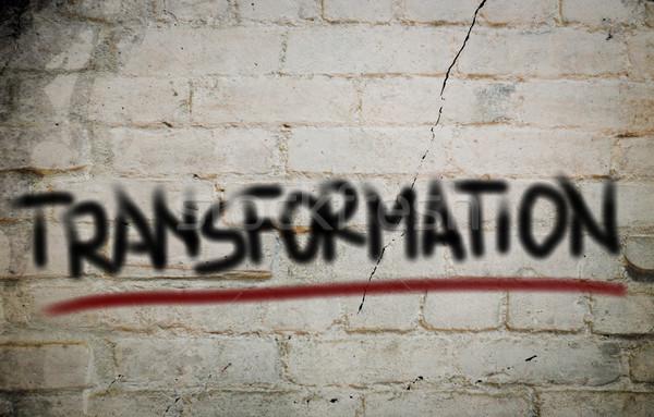 Trasformazione business abstract comunicazione media disegno Foto d'archivio © KrasimiraNevenova