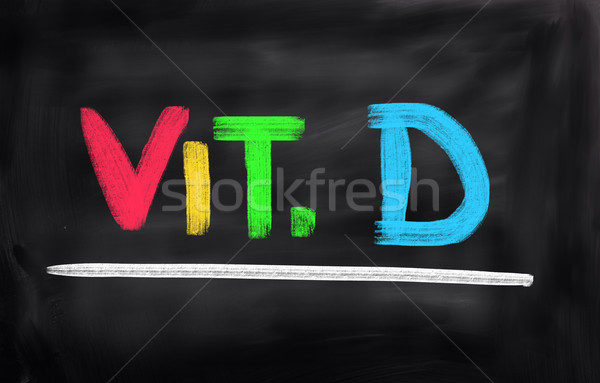 Vitamine d school vis abstract geneeskunde wetenschap Stockfoto © KrasimiraNevenova
