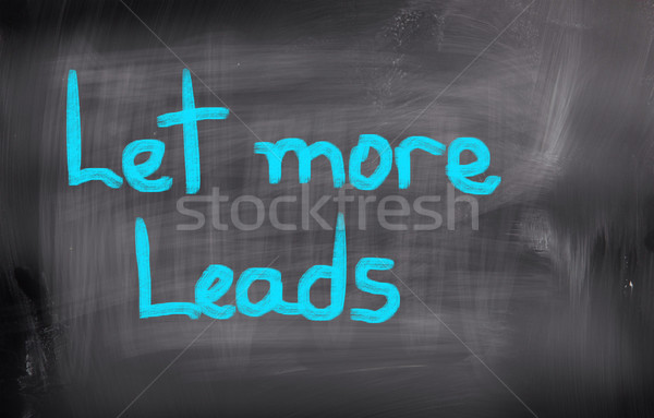 Let More Leads Concept Stock photo © KrasimiraNevenova