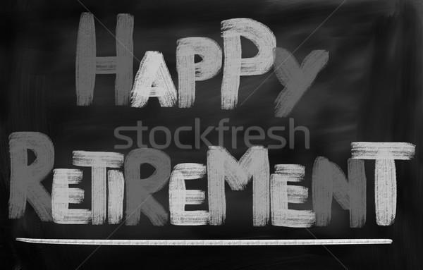 Gelukkig pensioen glimlach liefde man landschap Stockfoto © KrasimiraNevenova