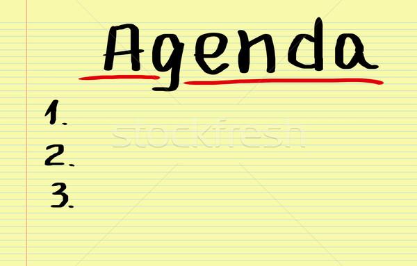 Agenda ufficio calendario piano evento concetto Foto d'archivio © KrasimiraNevenova