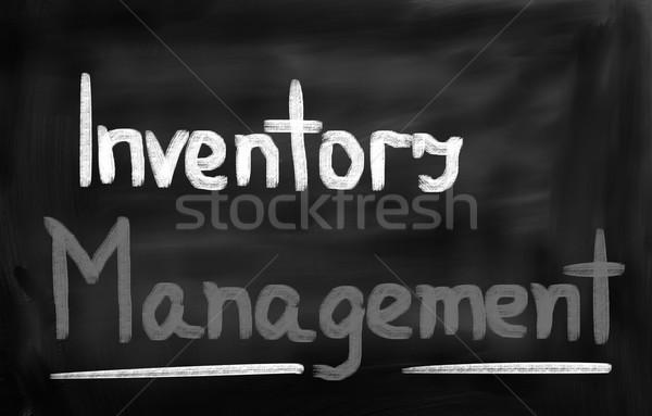 Inventário gestão fundo professor industrial cadeia Foto stock © KrasimiraNevenova