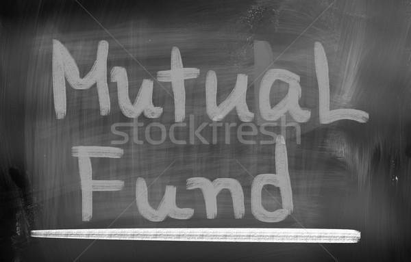 взаимный фонд улице Финансы финансовых Focus Сток-фото © KrasimiraNevenova