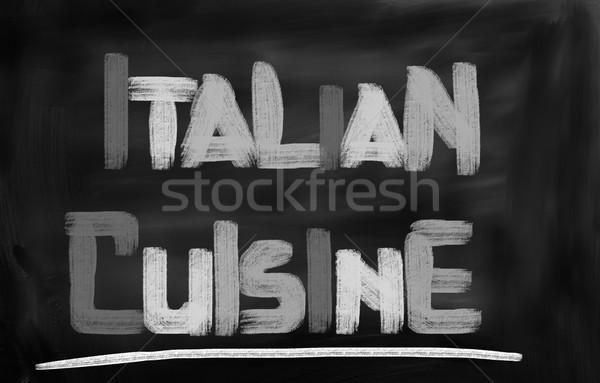 のイタリア料理 食品 チーズ 油 トマト 料理 ストックフォト © KrasimiraNevenova