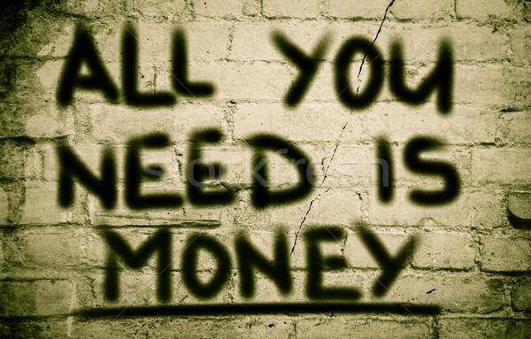 Dinero efectivo bancario beneficio ahorros pago Foto stock © KrasimiraNevenova