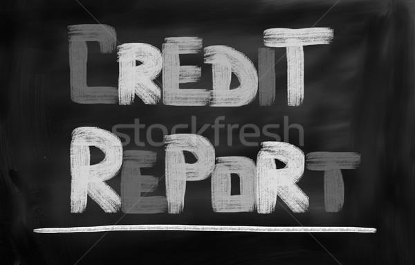 Stok fotoğraf: Kredi · rapor · arka · plan · finanse · başarı · tarih