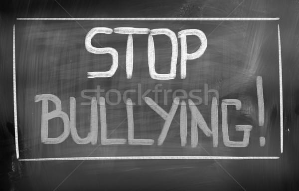 Stop smutne młodych przemocy pojęcia Zdjęcia stock © KrasimiraNevenova