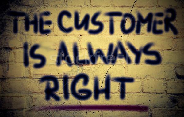 Cliente sempre direito negócio educação indústria Foto stock © KrasimiraNevenova