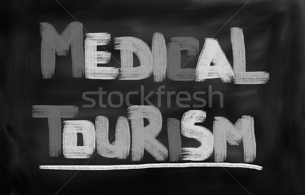 Orvosi turizmus orvos gyógyszer utazás repülőgép Stock fotó © KrasimiraNevenova