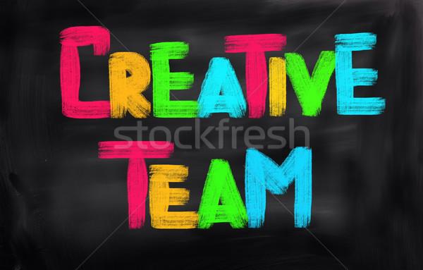 Kreatív csapat iroda divat technológia dolgozik Stock fotó © KrasimiraNevenova
