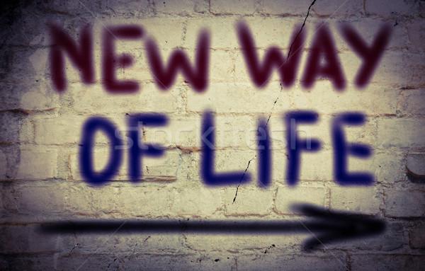 Новая жизнь работу время жизни признаков мечта Сток-фото © KrasimiraNevenova