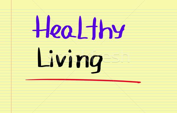 Sağlıklı yaşam meyve enerji hayat başarı çizim Stok fotoğraf © KrasimiraNevenova