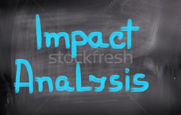 Impact Analysis Concept Stock photo © KrasimiraNevenova