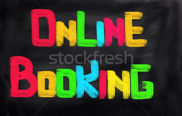 Online előre bejelentkezés számítógép munka laptop technológia Stock fotó © KrasimiraNevenova
