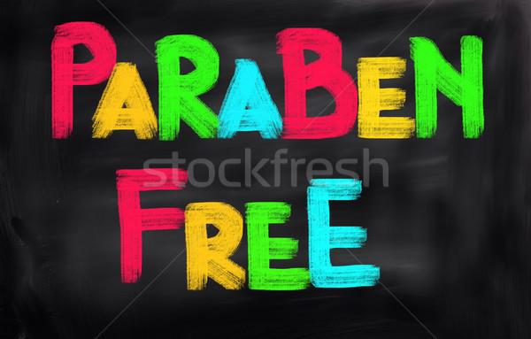 Paraben Free Concept Stock photo © KrasimiraNevenova