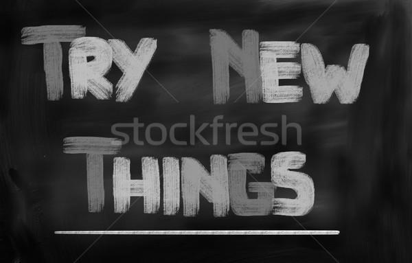 Novo coisas trabalhar tempo vida gestão Foto stock © KrasimiraNevenova