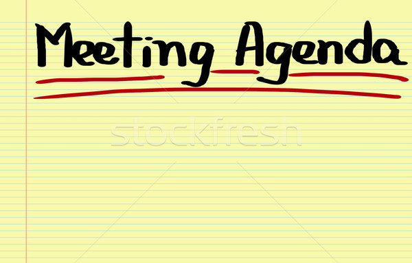 Meeting Agenda Concept Stock photo © KrasimiraNevenova