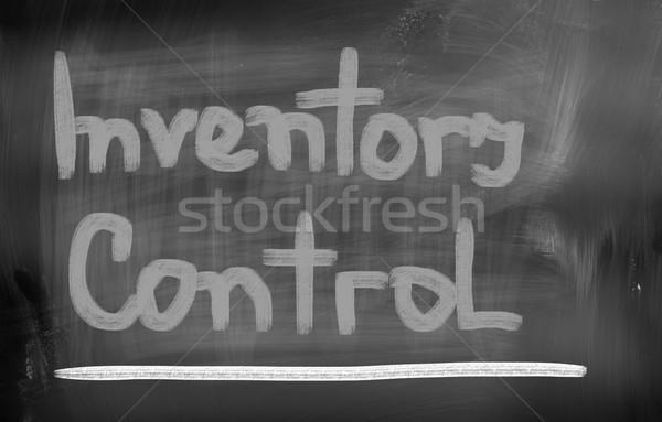 Inventaris controle achtergrond leraar tijd keten Stockfoto © KrasimiraNevenova