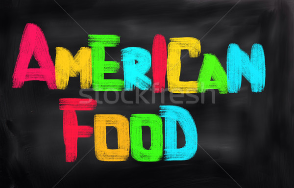 American Food Concept Stock photo © KrasimiraNevenova