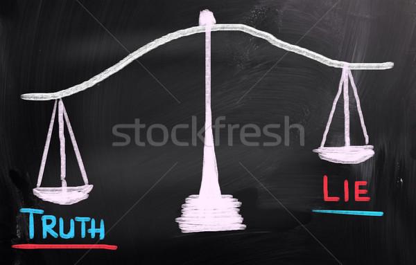 Verdade negócio assinar justiça corporativo escala Foto stock © KrasimiraNevenova