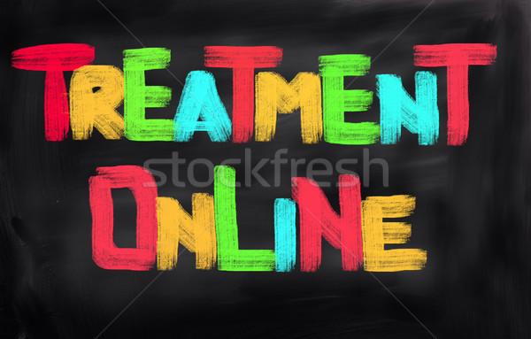 Treatment Online Concept Stock photo © KrasimiraNevenova