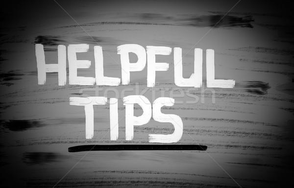 Behulpzaam tips business helpen bedrijf beheer Stockfoto © KrasimiraNevenova
