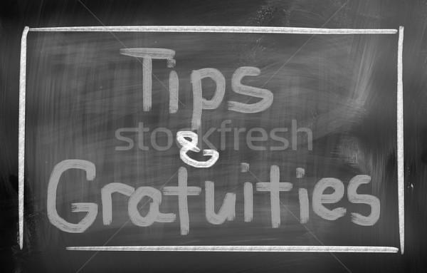 Stockfoto: Tips · business · familie · school · toekomst · borden